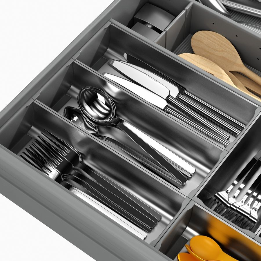 Kitchen Drawer 2 royalty-free 3d model - Preview no. 5