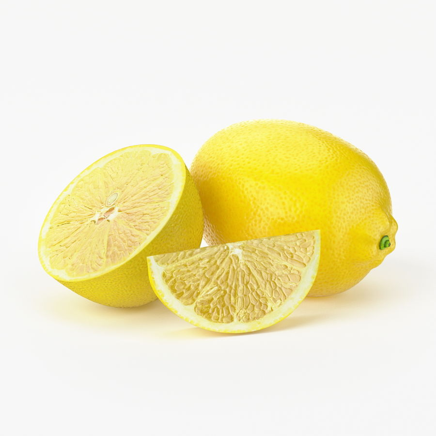 Realistic Lemon royalty-free 3d model - Preview no. 1