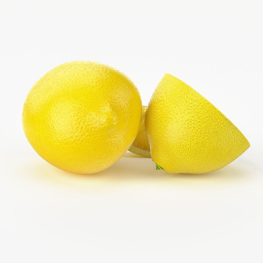 Realistic Lemon royalty-free 3d model - Preview no. 3