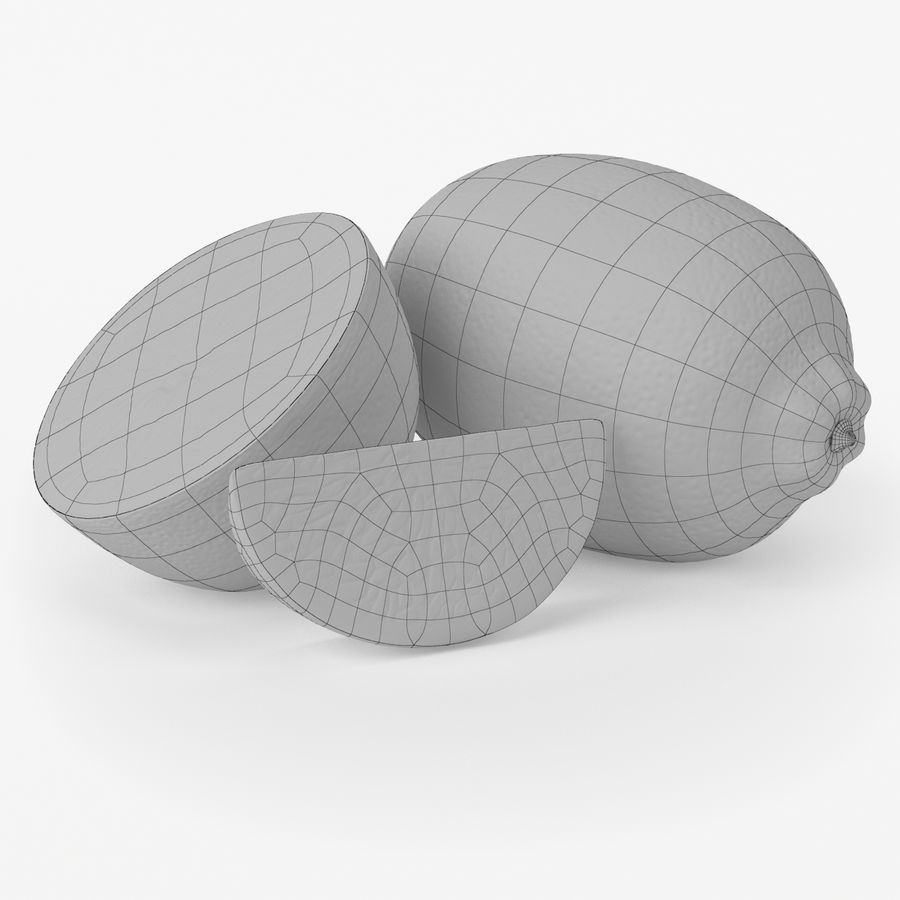 Limone realistico royalty-free 3d model - Preview no. 1