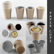 Kağıt bardaklar 3d model