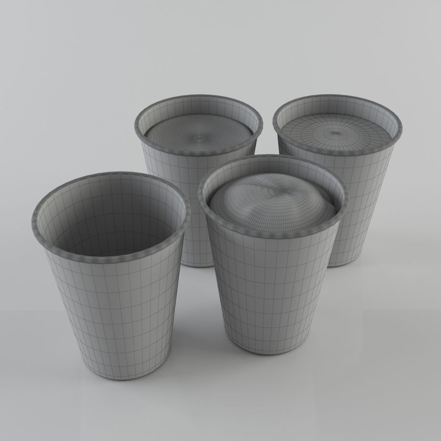 紙コップ royalty-free 3d model - Preview no. 7