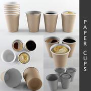 Бумажные стаканчики 3d model