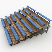 Stadium Bench 3d model