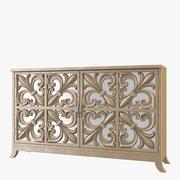 Hooker Furniture Living Room Melange Fleur-De-Lis Mirrored Credenza 3d model