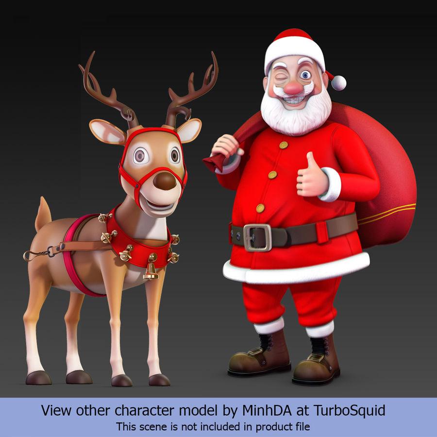 Santa Sleigh royalty-free 3d model - Preview no. 33