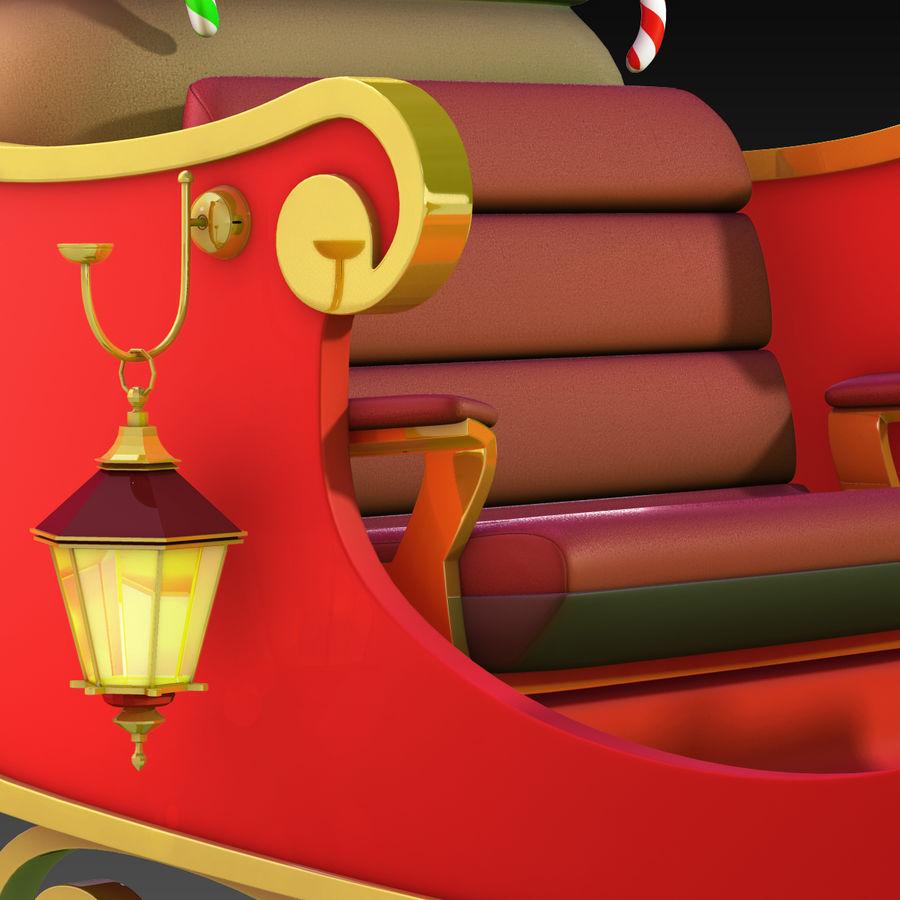 Santa Sleigh royalty-free 3d model - Preview no. 14