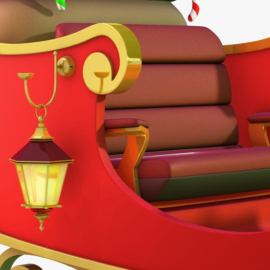 Santa Sleigh royalty-free 3d model - Preview no. 13