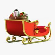 산타 썰매 3d model