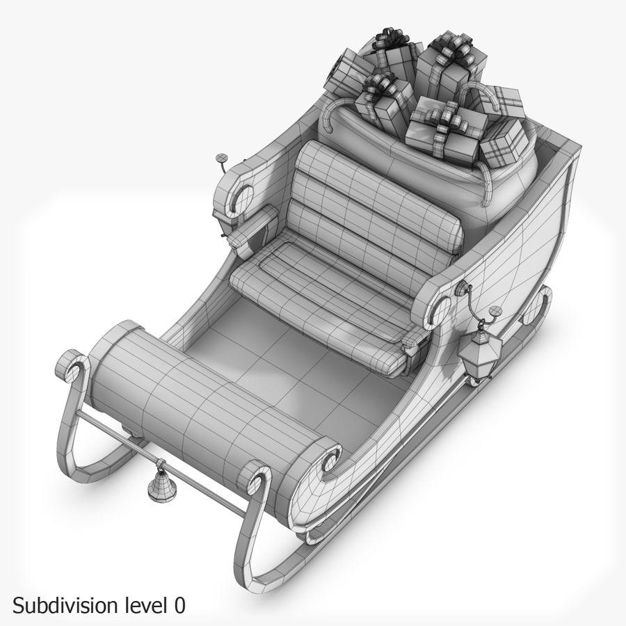 Santa Sleigh royalty-free 3d model - Preview no. 29
