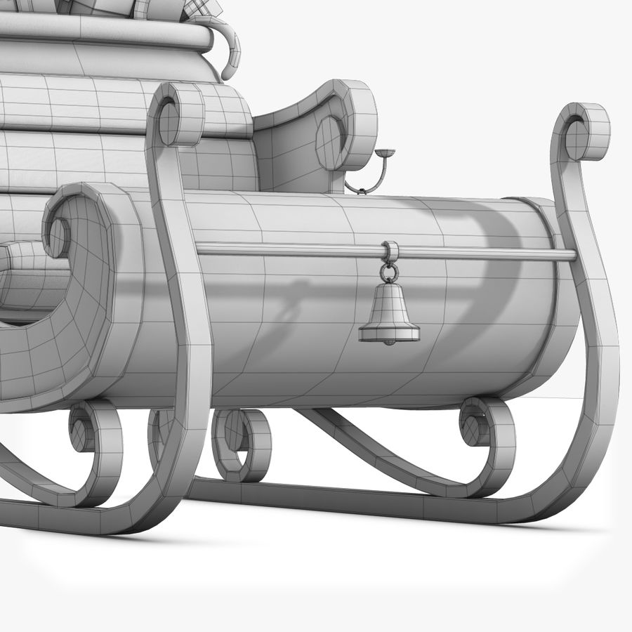 Santa Sleigh royalty-free 3d model - Preview no. 24