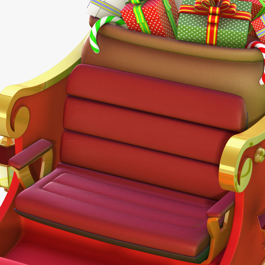 Santa Sleigh royalty-free 3d model - Preview no. 15