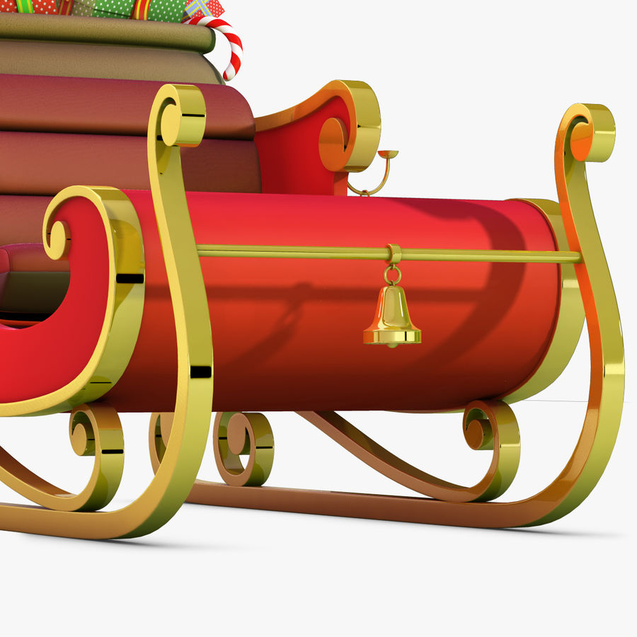 Santa Sleigh royalty-free 3d model - Preview no. 11