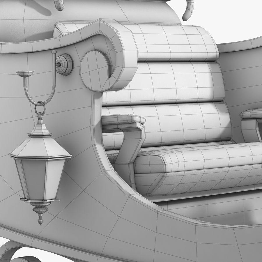 Santa Sleigh royalty-free 3d model - Preview no. 31