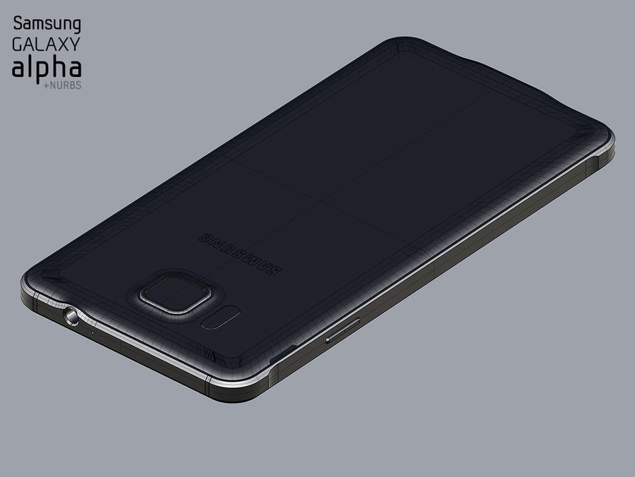 Samsung Galaxy Alpha royalty-free 3d model - Preview no. 8