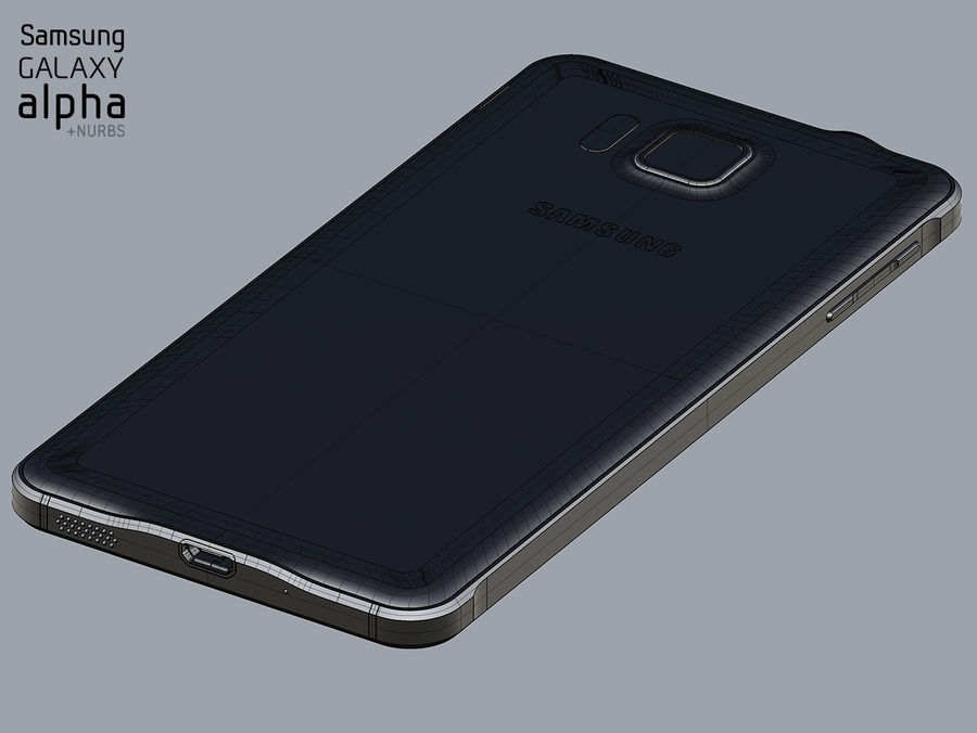 Samsung Galaxy Alpha royalty-free 3d model - Preview no. 10