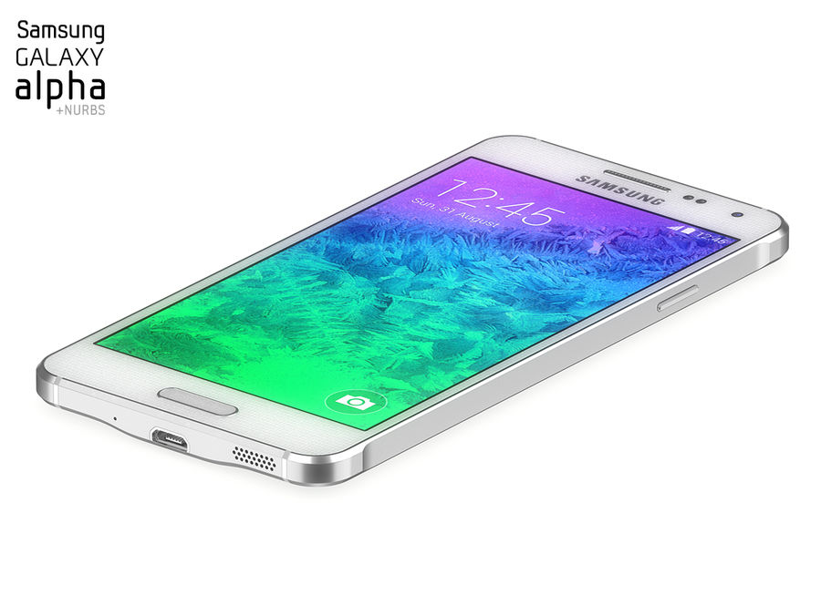 Samsung Galaxy Alpha royalty-free 3d model - Preview no. 5