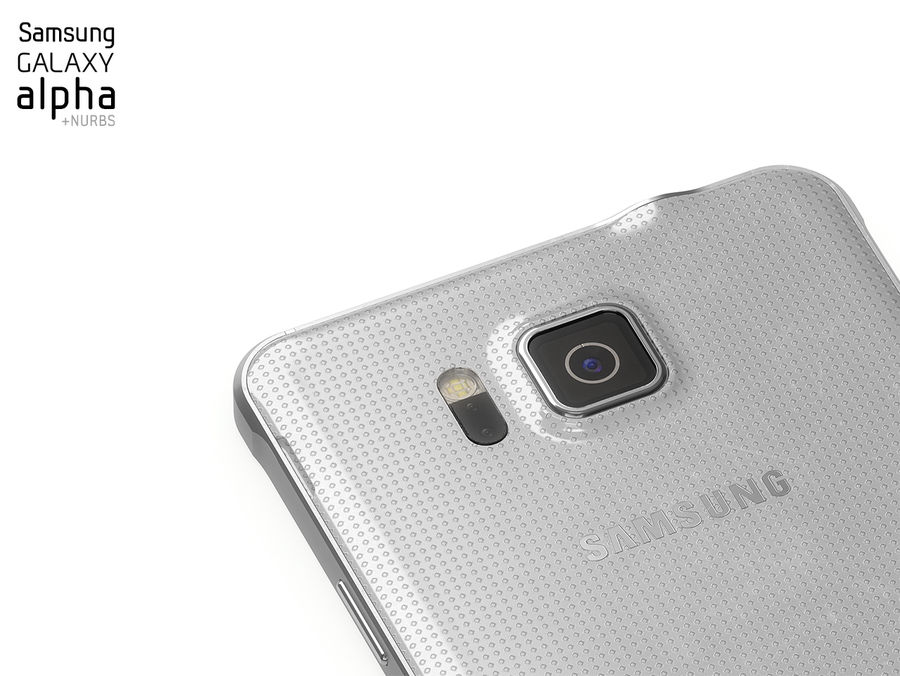 Samsung Galaxy Alpha royalty-free 3d model - Preview no. 7