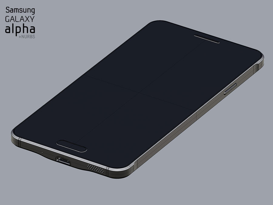 Samsung Galaxy Alpha royalty-free 3d model - Preview no. 2