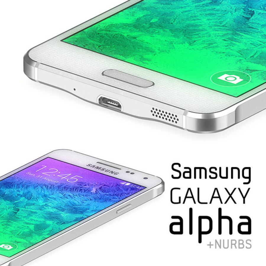 Samsung Galaxy Alpha royalty-free 3d model - Preview no. 1