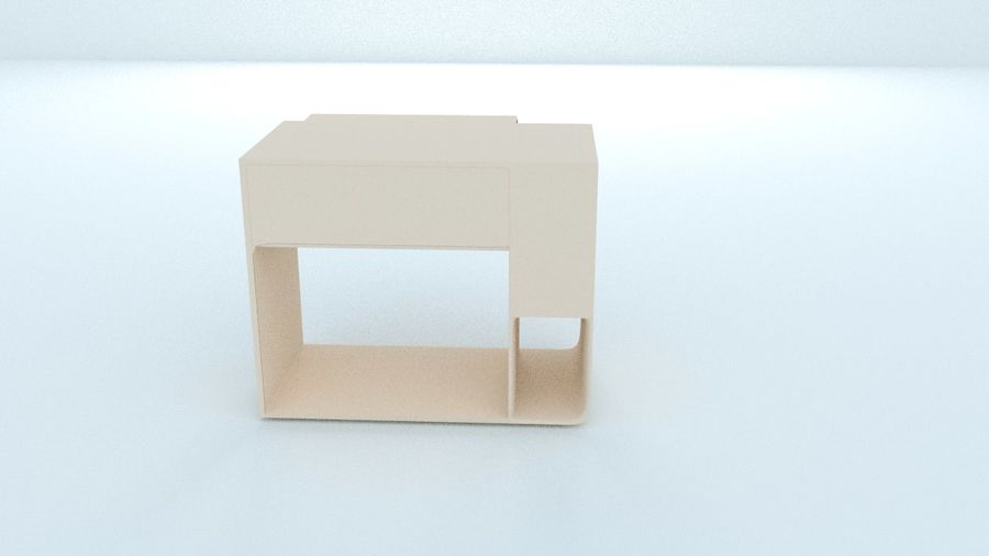 컴퓨터 책상 royalty-free 3d model - Preview no. 3