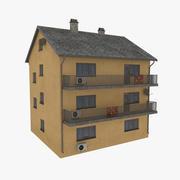 Apartment building one orange 3d model