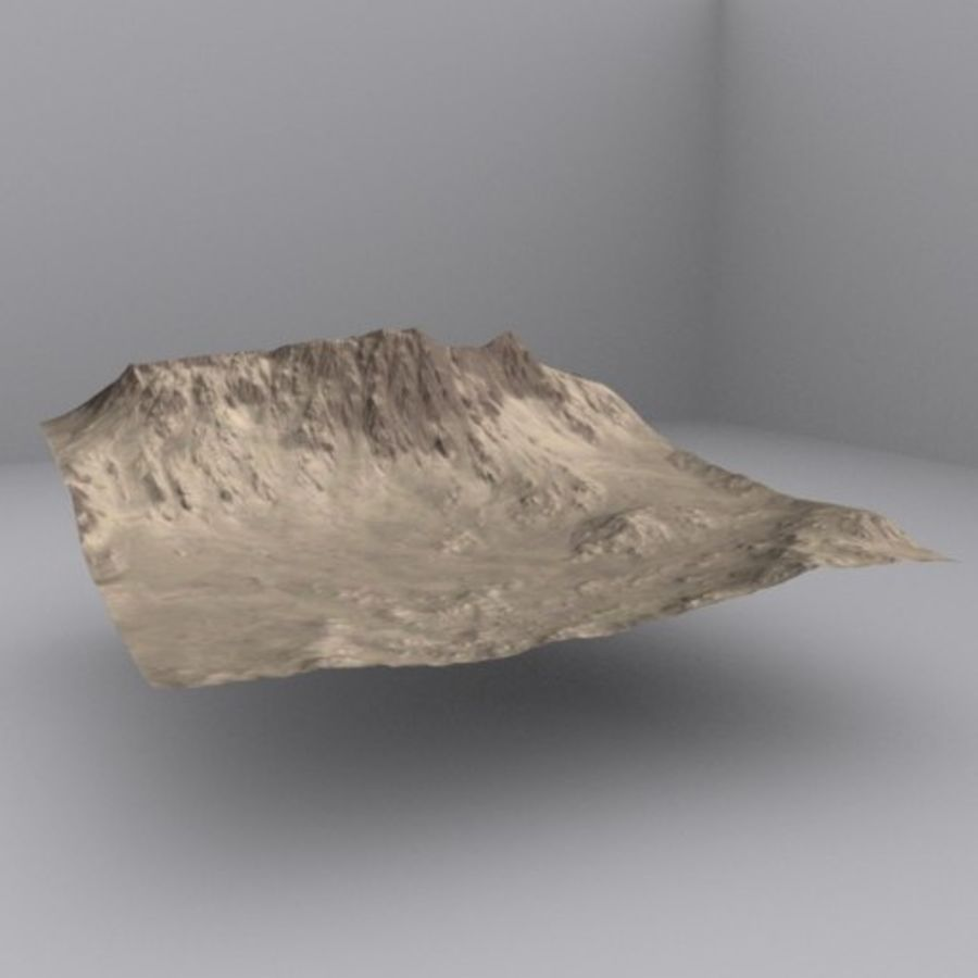 Montanhas afegãs royalty-free 3d model - Preview no. 1