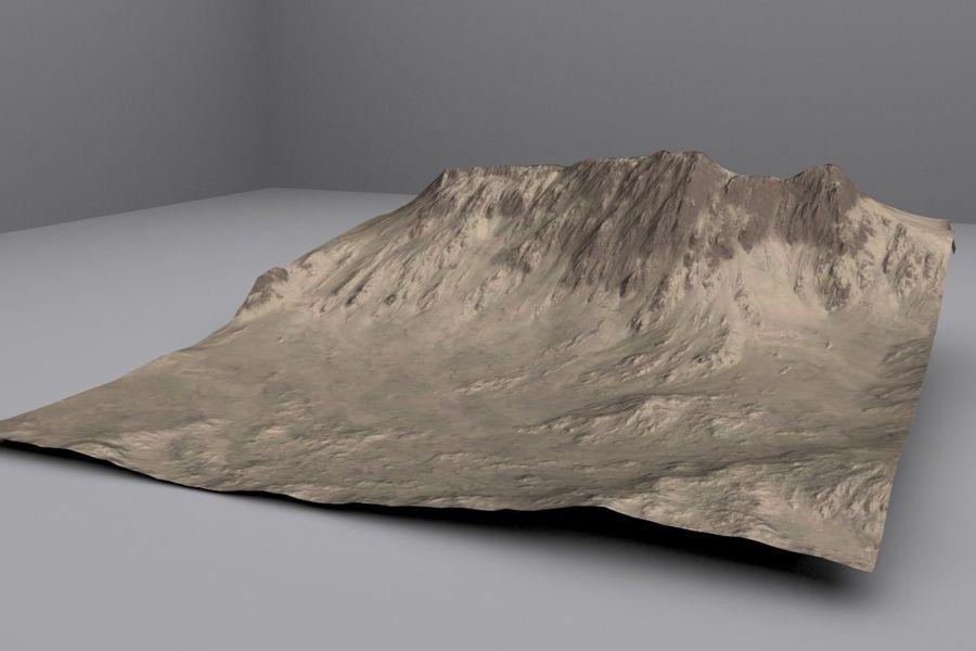 Montanhas afegãs royalty-free 3d model - Preview no. 3