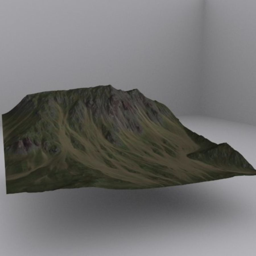 Montanha distante royalty-free 3d model - Preview no. 1