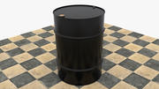 Drum 55 gal black 3d model