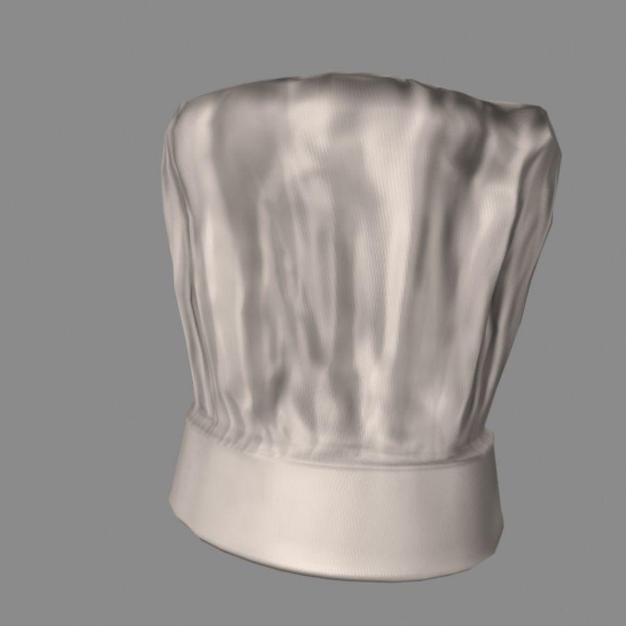 Поварская шляпа 02 royalty-free 3d model - Preview no. 4