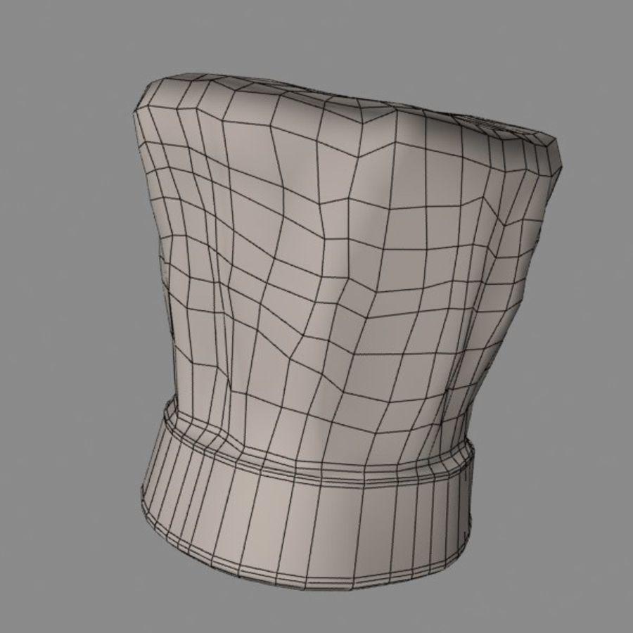 Поварская шляпа 02 royalty-free 3d model - Preview no. 13