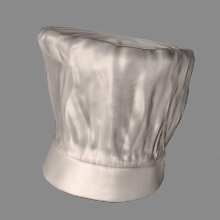 Поварская шляпа 02 royalty-free 3d model - Preview no. 1