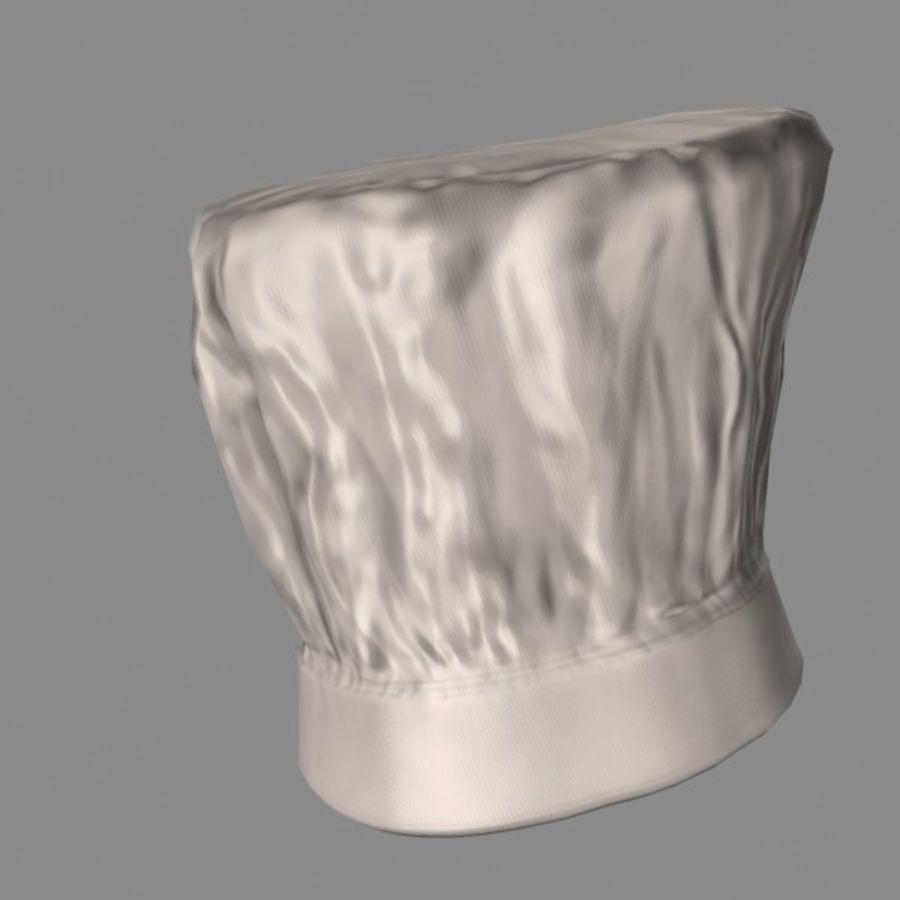Поварская шляпа 02 royalty-free 3d model - Preview no. 6