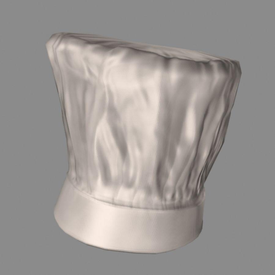 Поварская шляпа 02 royalty-free 3d model - Preview no. 2