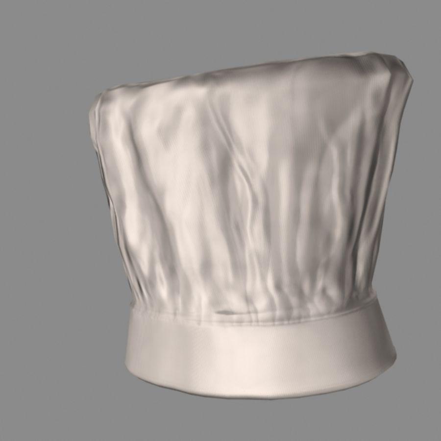 Поварская шляпа 02 royalty-free 3d model - Preview no. 5