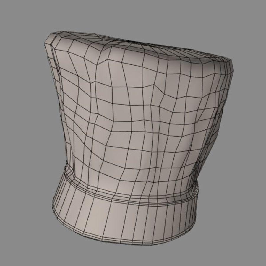 Поварская шляпа 02 royalty-free 3d model - Preview no. 12