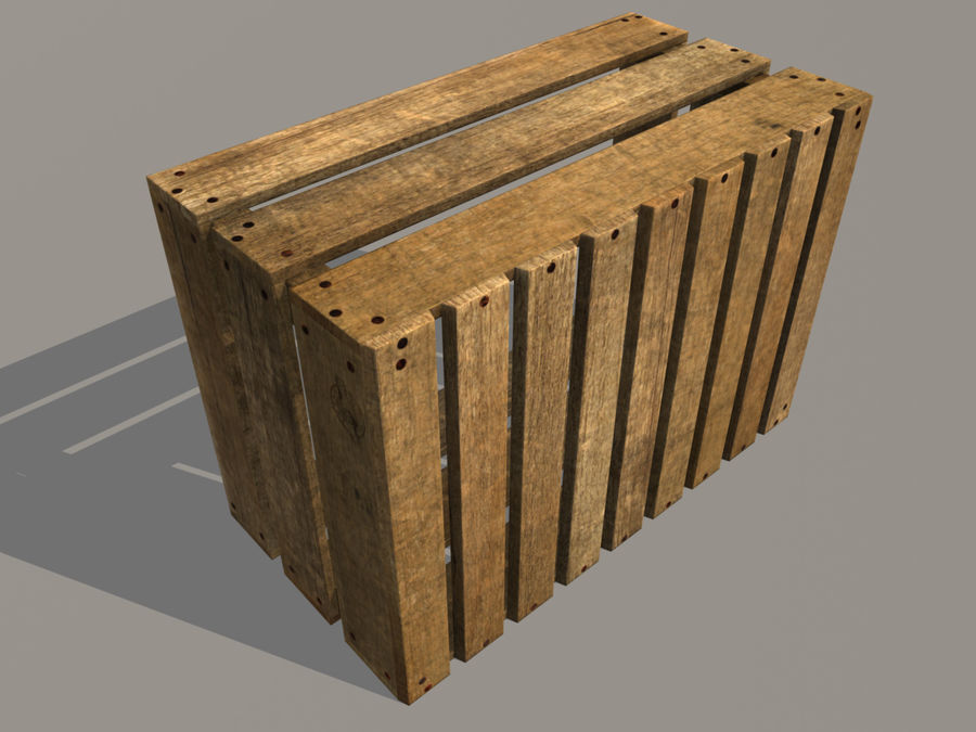 Fruit Crate royalty-free 3d model - Preview no. 3