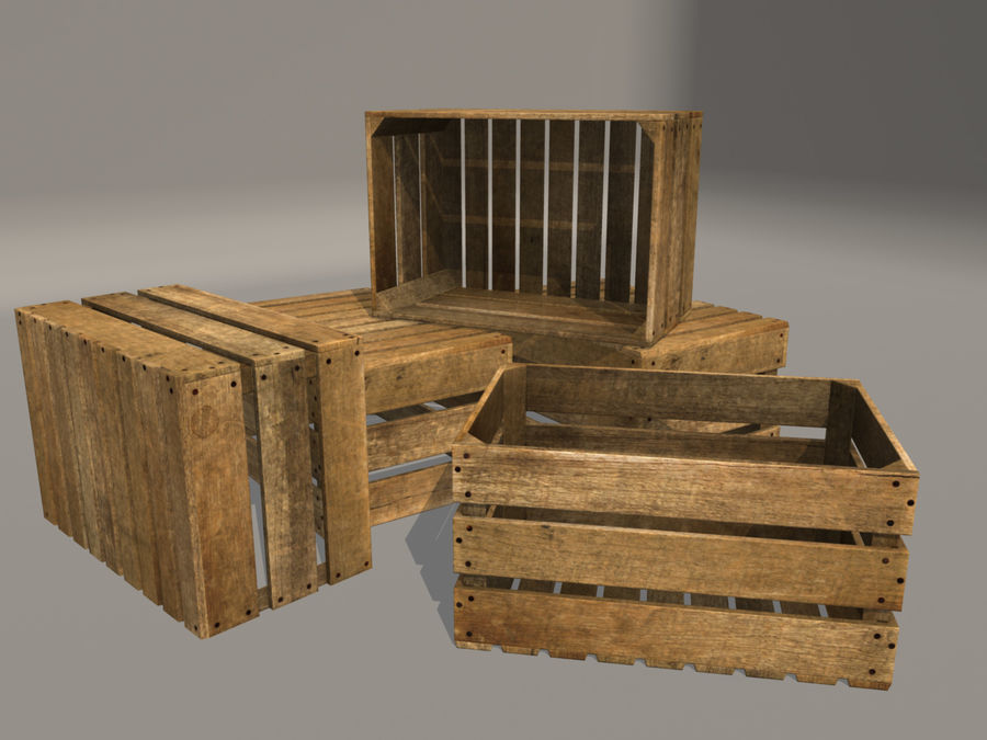 Fruit Crate royalty-free 3d model - Preview no. 4