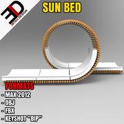 Lit de soleil 3d model