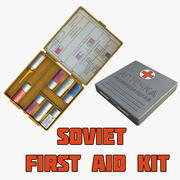 Sovyet İlk Yardım Çantası 3d model