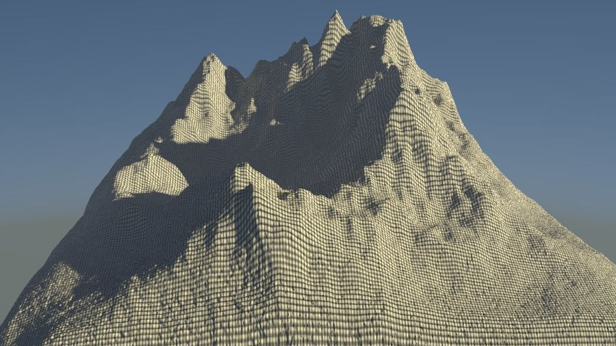 High Poly Mountain royalty-free 3d model - Preview no. 5