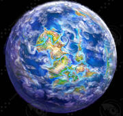 Desenho de planeta 3d model
