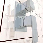 kran prysznicowy nowoczesny 3d model