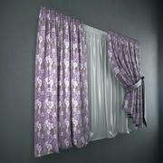 Curtains + tulle(blinds) 3d model