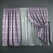 Curtains+tulle(blinds) 3d model