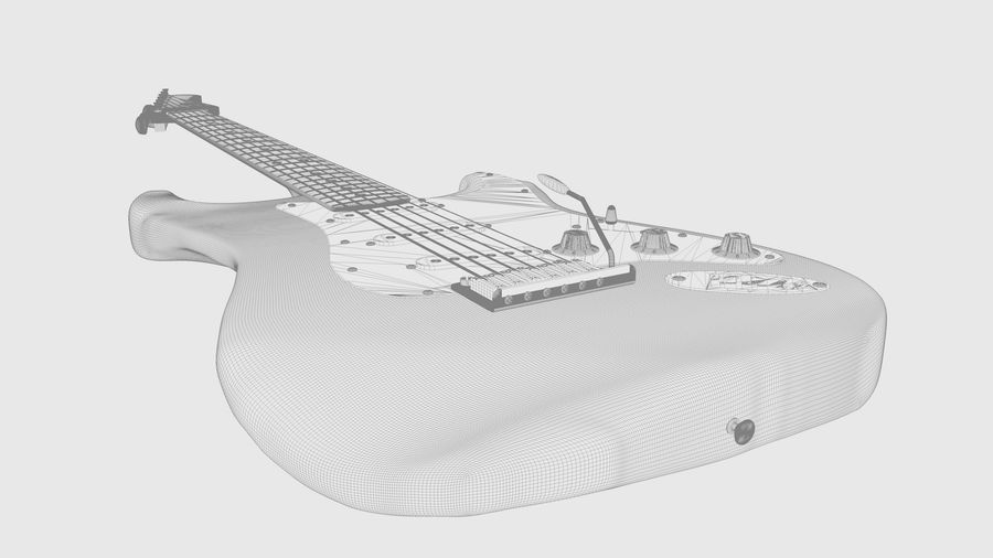 Fender STRATOCASTER American Standard C4D royalty-free 3d model - Preview no. 6