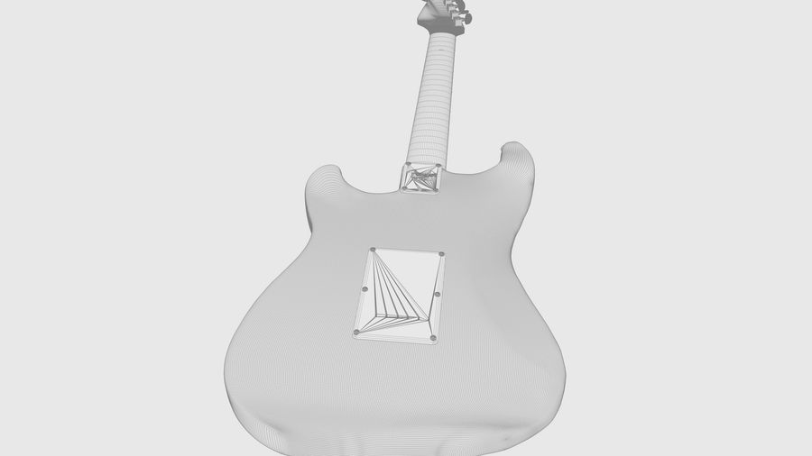 Fender STRATOCASTER American Standard C4D royalty-free 3d model - Preview no. 7