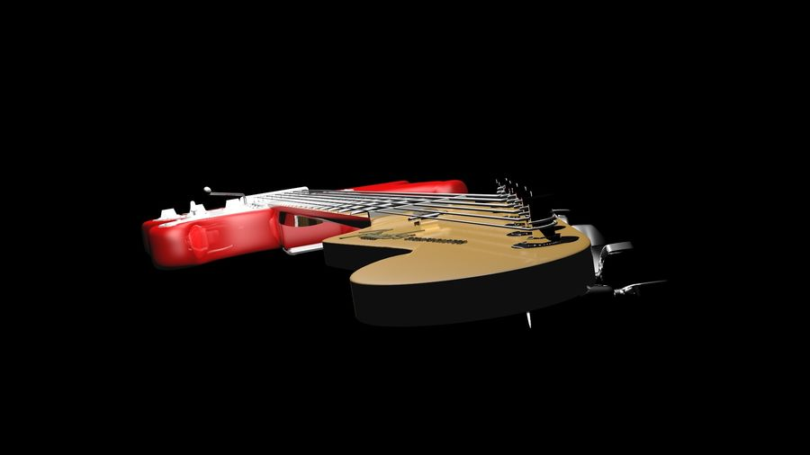 Fender STRATOCASTER American Standard C4D royalty-free modelo 3d - Preview no. 5