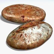 Яблочно-свекольный хлеб 3d model